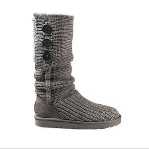 UGG Cardy Knit Boots Grey Size 5